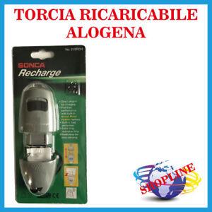 TORCIA CON MAGNETE ALOGENA RICARICABILE