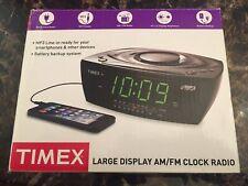 Timex T227BQW Large Display AM/FM Alarm Clock Radio With MP3 Line-IN