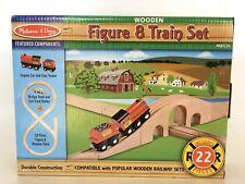 Melissa & Doug Wooden Figure 8 Train Set new in box compatible thomas & friends