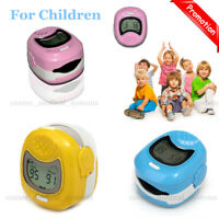 Child Pediatric Finger Pulse oximeter  SpO2 Kids Heart rate Blood Oxygen Monitor