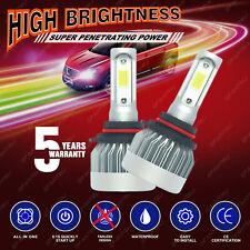 2x Fanless LED Headlight High Beam 6000K White Power 9005 HB3 1715W 257250LM