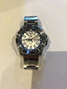 Seiko 5 Sports SRP481 Baby Snow Mini Ice Monster Automatic Mens Watch