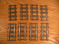 80 pieces Lego 4515 9v 9 volt straight metal rails train tracks dark gray