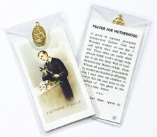 SAINT ST GERARD MAJELLA PRAYER CARD & Brass Medal