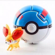 Pokemon Throw Pop PokeBall Cosplay Pop-up Elf Go Fighting Poke Ball toys blue