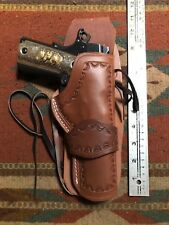 Fits Colt Govt 45 Model 1911 Western Tanned Leather Drop Holster