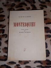 MONTESQUIEU - Textes choisis par Marcel Raymond - Egloff, 1943