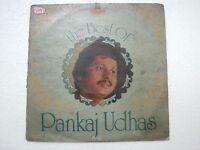 PANKAJ UDHAS THE BEST 1982 RARE LP RECORD Orig vinyl india hindi GHAZAL VG