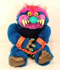 """Vintage 1986 My Pet Monster Large 24"""" Toy With Cuffs AmToy 80s Stuffed Animal"""