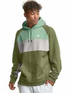 Champion Men's Powerblend Fleece Colorblocked Hoodie