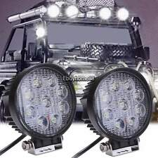 2pcs 27W Round 9 LED Flood Work Light Fog Lamp  Truck Tractor SUV UTV