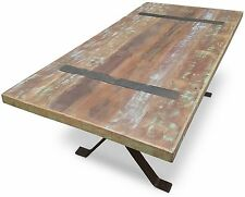 Xavier Industrial Dining Table - 2M Long x 1M Wide - Seats 8