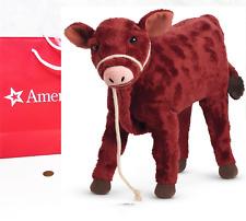 "NEW American Girl Doll CAROLINE'S CALF GARNET 10"" Pet Cow Rope Halter Lead BAG"