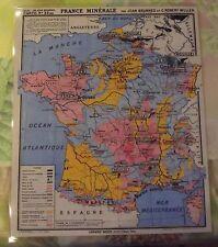 Set de Table Affiche Poster Deco Murale France Minérale Ardoises Sable Argile