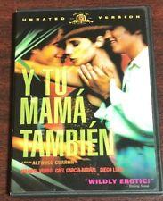 Y Tu Mama Tambien (Dvd, 2002, Widescreen Unrated) Diego Luna Used