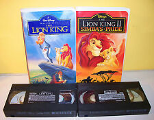 Walt Disney The Lion King PLUS The Lion King 2 (Simba's Pride) Clamshell VHS