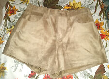 Levi's Levi Strauss Shorts Hot Pants Suede Leather Beige Sand Size 8 -10