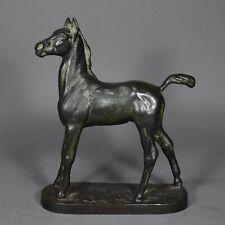 Bronze A. H. Hussmann Fohlen Pferd Hengst horse foal Figur figure figurine Kraas