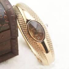 Fashion Lady Gold Bracelet Watch Quartz Analog Wrist Watch Dress Gift