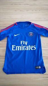 Camiseta de Fútbol Psg París Azul Nike Tamaño 6-8 Año como Nuevo