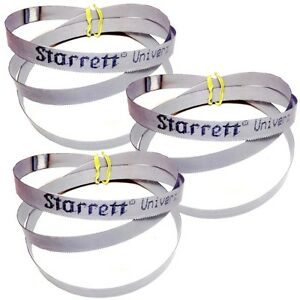 "3 Cobalt Portable Bandsaw Blades 18 TPI Porta Band Saw 44-7/8"" long - Starrett"
