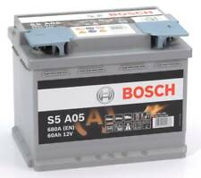 Batteria auto Smart BOSCH S5A05 AGM 60AH 680A cod. 0092S5A050 Start-Stop Battery