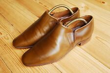 Vintage English Cheaney Brown Leather Formal Slip On Loafers Shoes UK 6