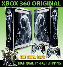 XBOX 360 ORIGINALE FUMOSO TESCHIO DARK arte gotico OSSA Adesivo sottile & 2