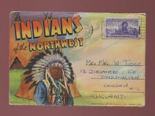 USA ethnic American Indians of Northwest 18 picture view booklet used 1947
