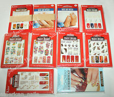 LOT Revendeur 60 Paquets stickers ongle décals à l'eau Nail Art Kiss DESTOCK