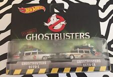 NEW Hot Wheels Classic Ghostbusters 2 pack Ecto-1 & Ecto-1A Free Shipping