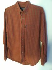 Abercrombie & Fitch men's size small red blue button down long sleeve shirt used