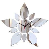 Spiegel Acryl Material Einseitig Wand Aufkleber Modernen Stil Wand Quarzuhr J1J2