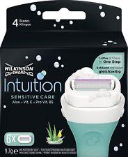 6 Wilkinson Intuition Naturals Sensitive Care Rasierklingen