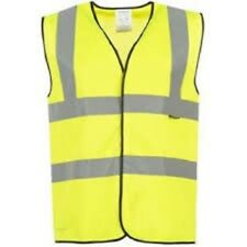 DUNLOP HIGH VIS CHILDS SAFETY VEST AGE 7-10 YELLOW HIGH VISIBILITY WAISTCOAT