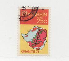 "RHODESIA SC# 313 Θ used - Granite '71 Geological Symposium ""map"" postage stamp"