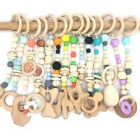 Animal Beech Sensory Baby Play Gym Pram Toys Teething Silicone Beads Teether Toy