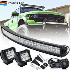 "Dual Row 50inch 288W Combo LED Light Bar + 2x4"" Pods Offroad 4WD Fog Light 52"""