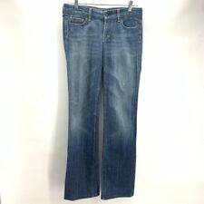 Citizens Of Humanity Womens Boot Cut Jeans Blue # 1942 Medium Wash Distressed 27