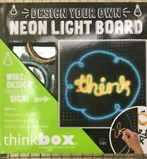 ThinkBOX Think Box Design Your Own Neon Light Board New & Sealed