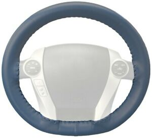 Wheelskins Sea Blue Genuine Leather Steering Wheel Cover for Dodge