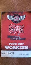 Styx And Reo Speedwagon Backstage pass