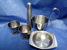 VINTAGE OLD HALL STAINLESS STEEL incl. ROBERT WELCH pepper pot egg cups dish cup