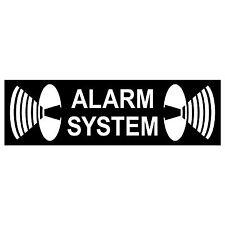 Aufkleber Alarm System 6,5cm Sticker Warnung Haus Tür Fenster Glas Rollladen