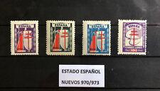 SELLOS ESPAÑA 970/973** NUEVOS, AÑO 1943 PRO TUBERCULOSO,LOS DE LA FOTO
