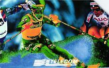 G 589 C&C 2648 SCHEDA TELEFONICA USATA CAMPIONATI DI SCI SESTRIERE 1997 L. 10000
