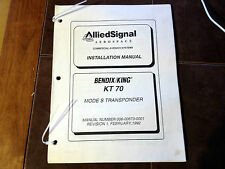 Bendix King KT-70 Transponder Install Manual