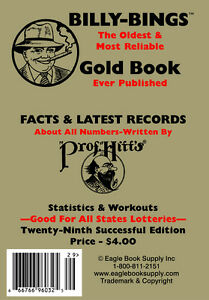 Billy Bings Gold Book - Lottery Book - Numerology Guide