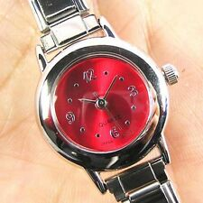 Round Ruby Red Stainless Steel Italian Charm Watch BA07