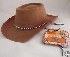 cow-boy chapeau déguisement plastique marron floqué extérieur Cowgirl NEUF Par